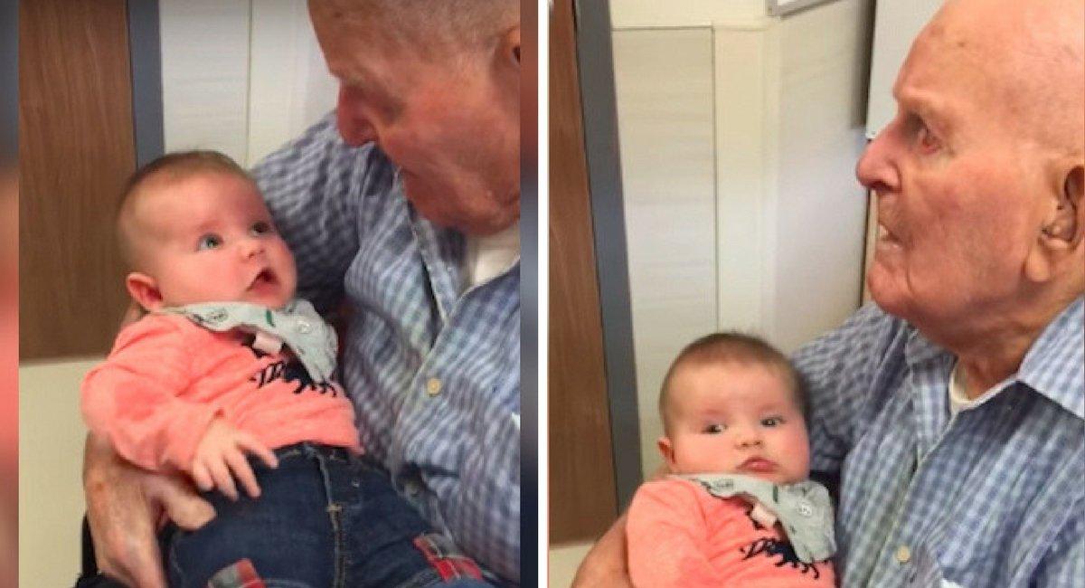 untitled design 50.jpg?resize=1200,630 - Découvrez pourquoi cet enfant d'un an a ému aux larmes son arrière-arrière-grand-père de 108 ans