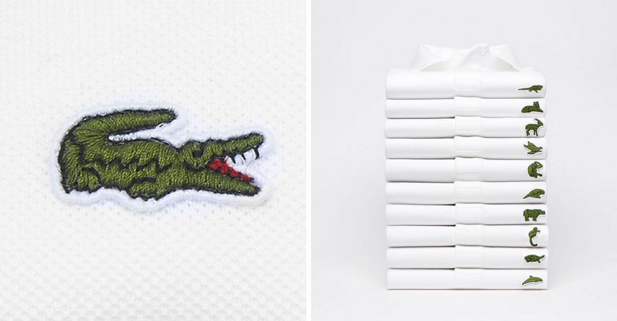 ab28ffe3c7d7 Lacoste Replaces Iconic Crocodile Logo With Endangered Species As Part Of  Campaign And People Are Not Excited About It.