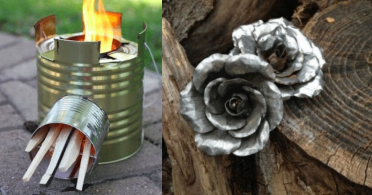 upcycle tins - Mom Always Collected Cans So She Is Now Sharing 10 Brilliant Ways To Upcycle Old Tin Cans