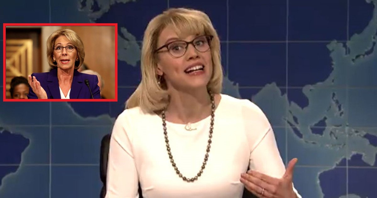 us - Kate McKinnon's Hilarious Impersonation of Betsy DeVos on Saturday Night Live Will Make you Laugh Out Loud