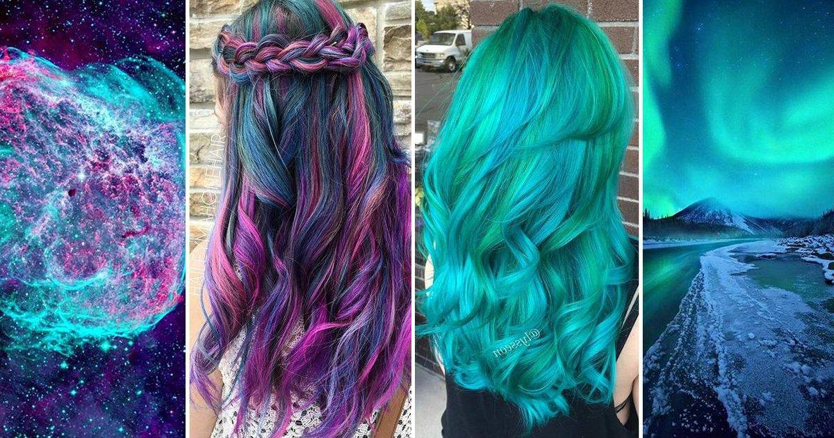 """yhum - """"Galaxy Hair"""": Cabelos com cores inspiradas na galáxia são a nova tendência"""