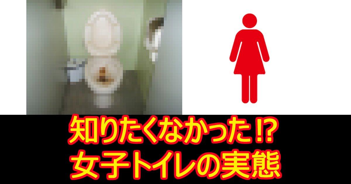 zyoshitoire - 【動画あり】 女子トイレの衝撃実態ランキング10