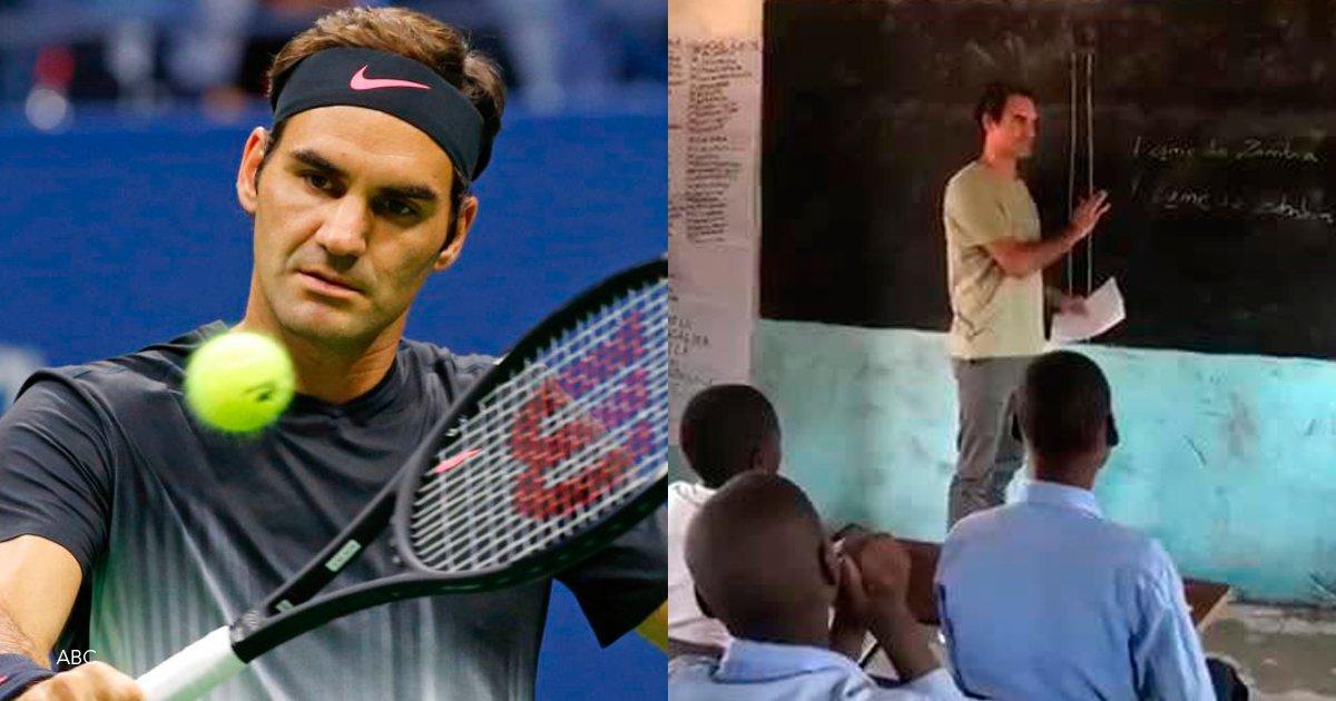 1 casdf.png?resize=1200,630 - Roger Federer visitó a niños en Zambia y hasta dio clases en una escuela