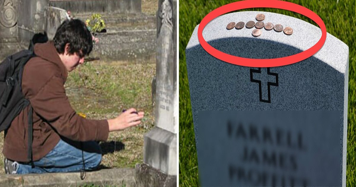 11ec8db8eb84ac 1.jpg?resize=636,358 - If You Ever See A Quarter Resting On Top Of A Grave Stone, Don't Touch It