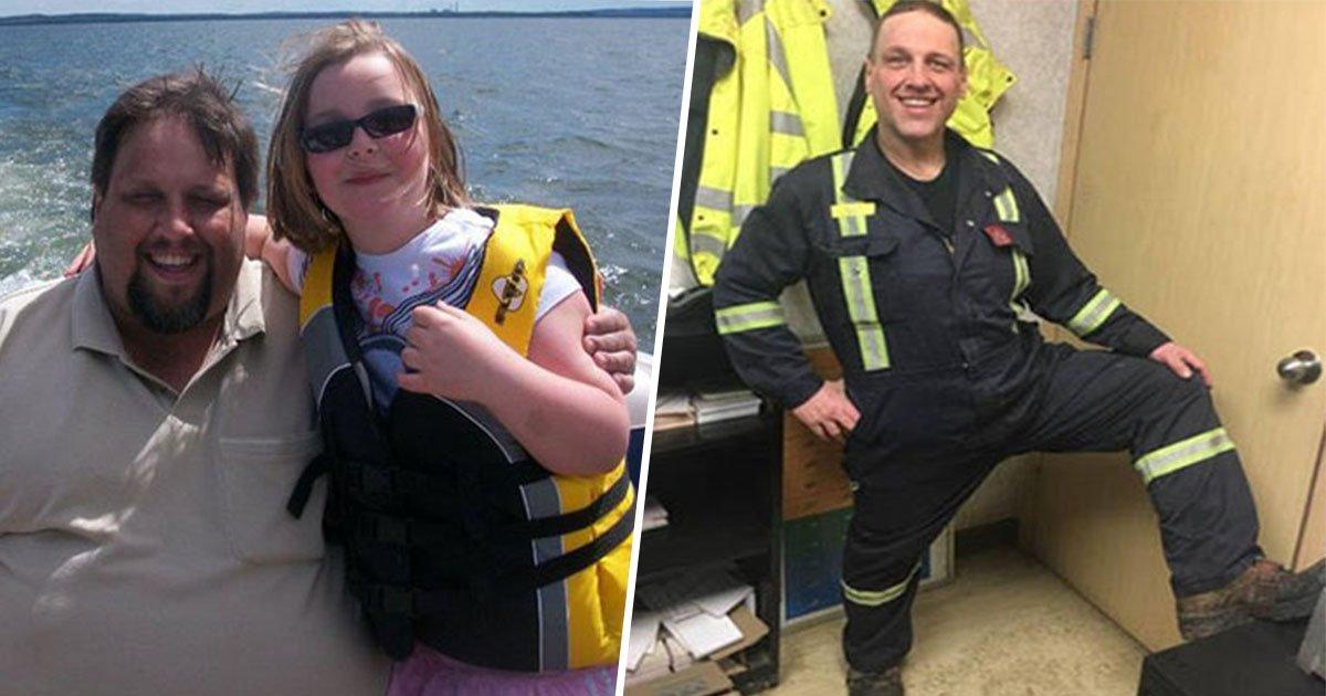 14ec8db8eb84ac.jpg?resize=412,232 - Un père obèse se transforme après avoir fait face à une évacuation qui a mit sa vie en danger