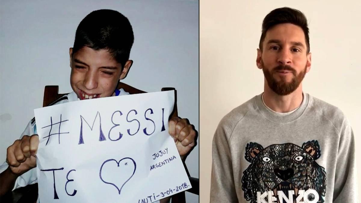 1523031744 784474 1523032066 noticia normal - Lionel Messi realiza el sueño de un chico con parálisis cerebral