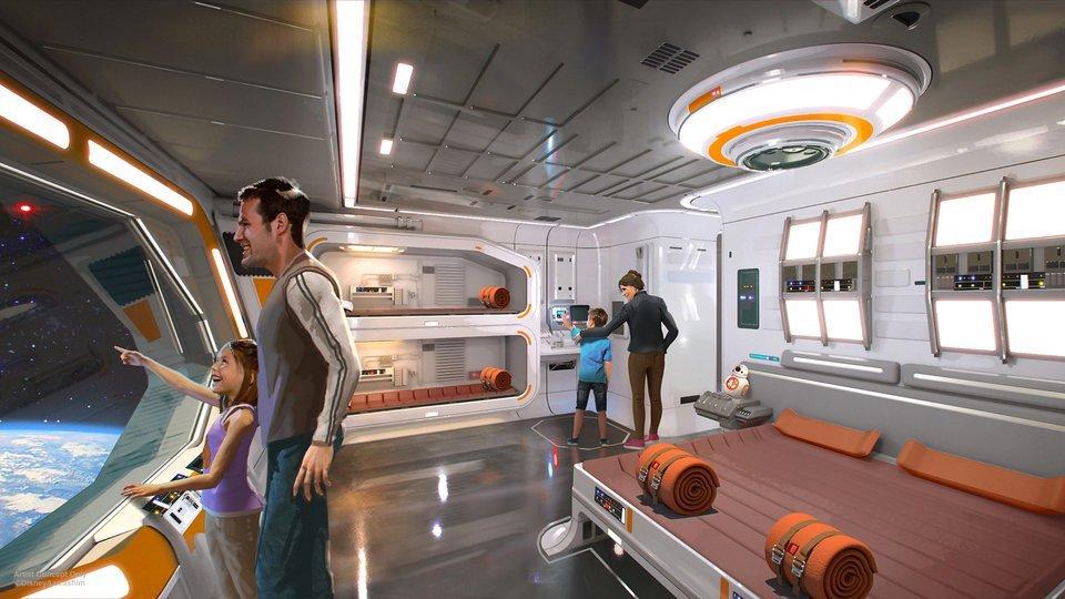Quartos do hotel de Star Wars fará visitante se sentir realmente no espaço