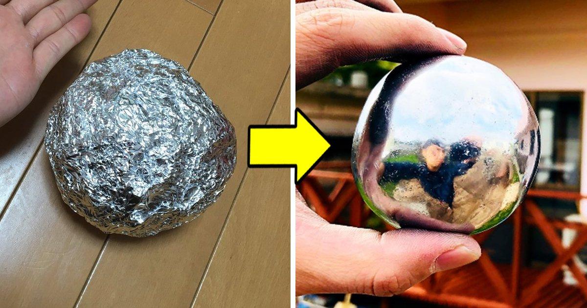 9 1 - Aprenda a fazer uma bola de ferro com papel alumínio!