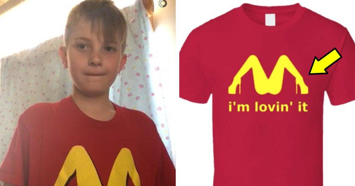 "9 118.jpg?resize=300,169 - ""9살 아들한테 사준 맥도날드 티셔츠가?""... '짝퉁' 티셔츠 대참사"
