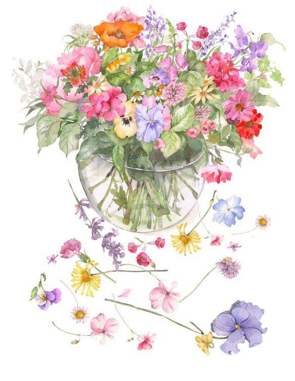 水彩画 花에 대한 이미지 검색결과