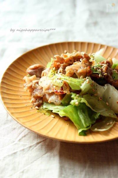 豚肉とレタスの柚子胡椒炒め에 대한 이미지 검색결과