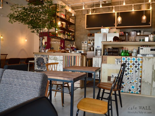 cafe WALL 新宿 カウンター席에 대한 이미지 검색결과