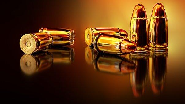 카트리지, 무기, 전쟁, 손으로 총, 탄약, 금속, 바닥, 슬리브, 반사
