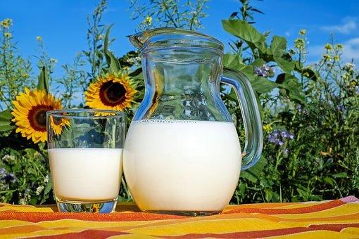 우유, 유리, 프리슈, 건강한, 한잔, 음식, 맛있는, 비타민, 강화