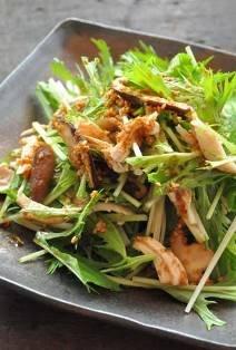 水菜と鶏ささみの和風サラダ에 대한 이미지 검색결과