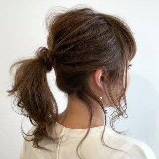 ポニーテール 後れ毛에 대한 이미지 검색결과