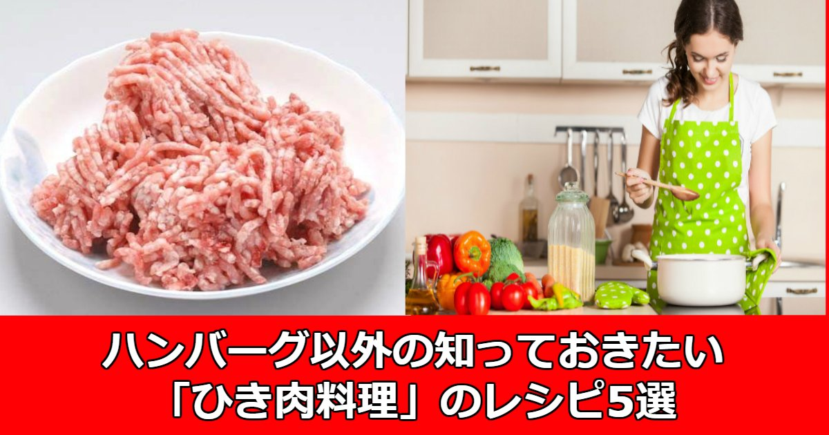 aaa.jpg?resize=1200,630 - ハンバーグ以外の知っておきたい「ひき肉料理」のレシピ5選