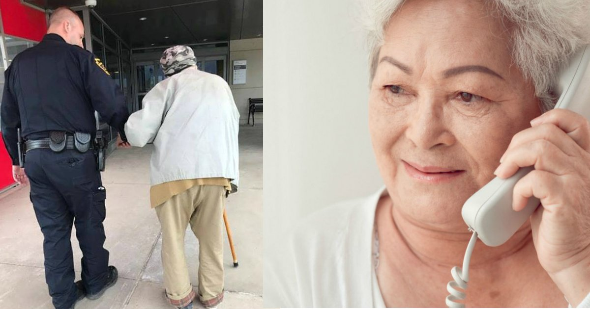 always ready to help.jpg?resize=300,169 - La photo de ce policier accompagnant un homme âgé à l'hôpital est devenue virale. Découvrez pourquoi!