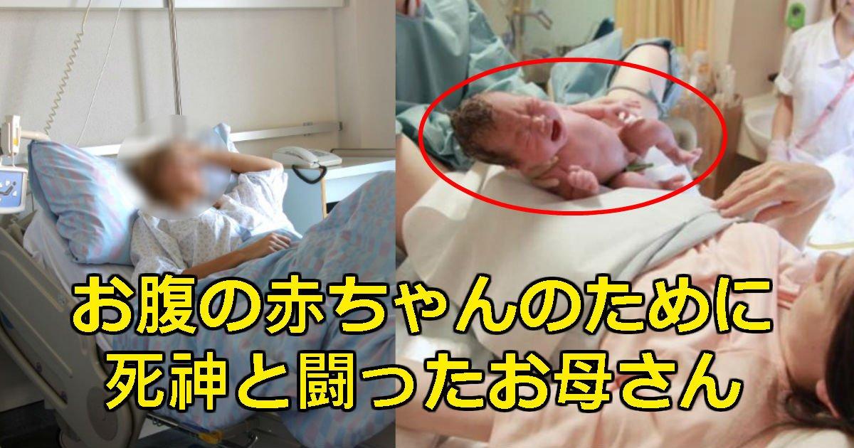 baby 3 - お腹の中の赤ちゃんのために死なず耐えてきた「末期がん」お母さんが目を閉じた