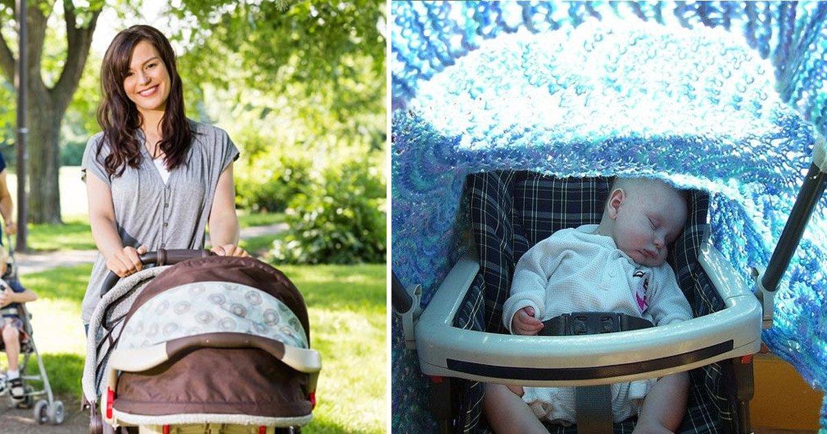 baby 5.jpg?resize=1200,630 - Confira por que não se deve cobrir o carrinho de bebê num passeio no parque