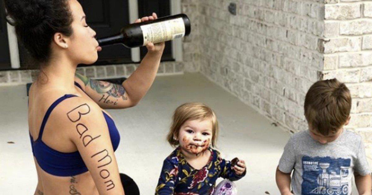 """badmom 630 - Mulher admite ser """"péssima mãe"""" com muito humor"""