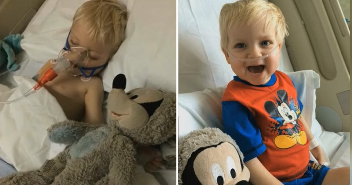 boywakesup.jpg?resize=300,169 - 2-Year-Old Boy Conquers Death as he Recovers from an Extremely Rare Disease