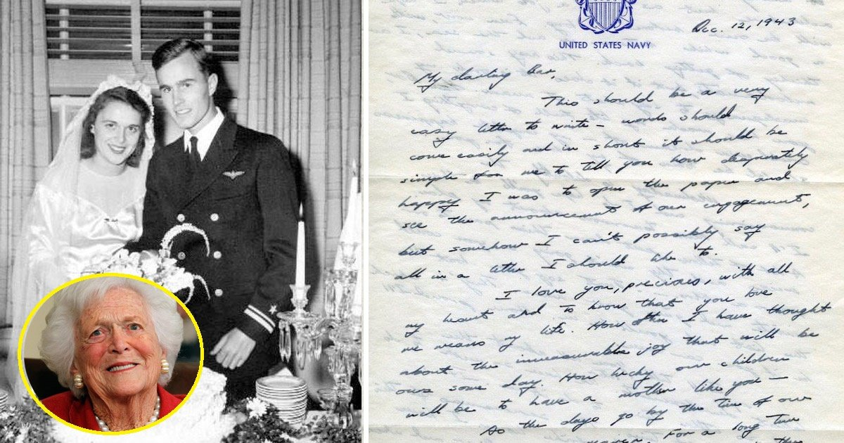 bush - Love Letter Penned By Former Us President To His Wife During World War Ii Goes Viral