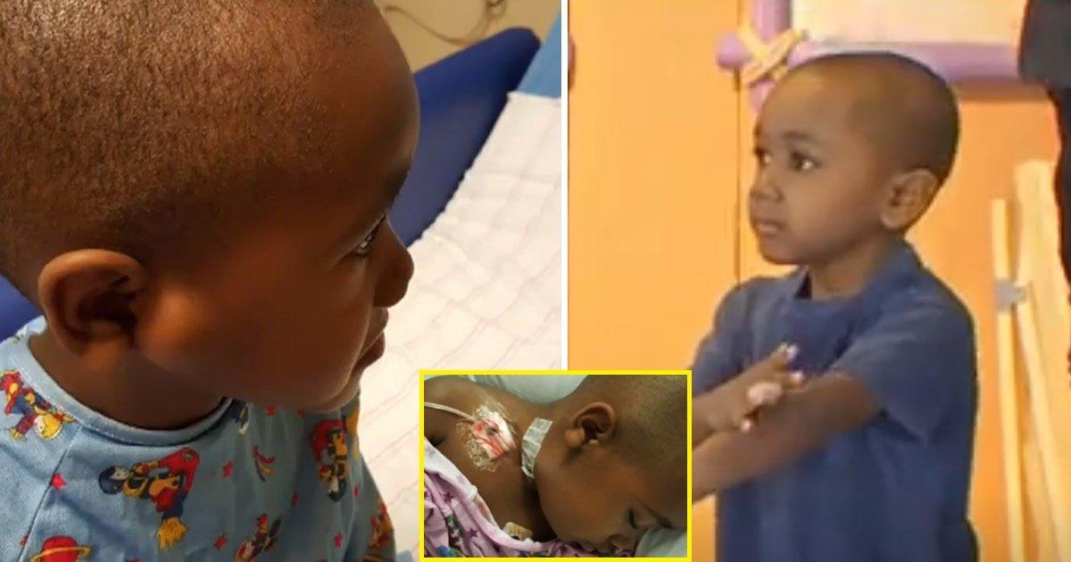 cancer 1.jpg?resize=412,232 - Les parents de ce très jeune garçon atteint d'un cancer très rare partagent son histoire