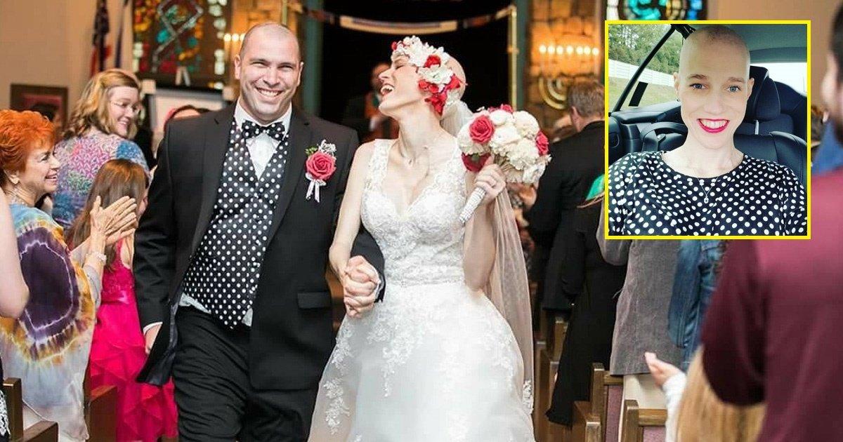 cancer - Bride Suffering From Cancer Gets Married On Her Wedding Day Despite Doctors Warning Against It