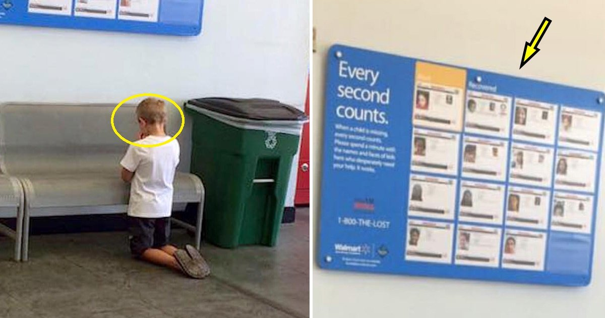 child 1.jpg?resize=300,169 - Mom Sees Son Knelt Down in Front of a Sign Board. When She Takes a Closer Look, Tragic Truth Is Revealed
