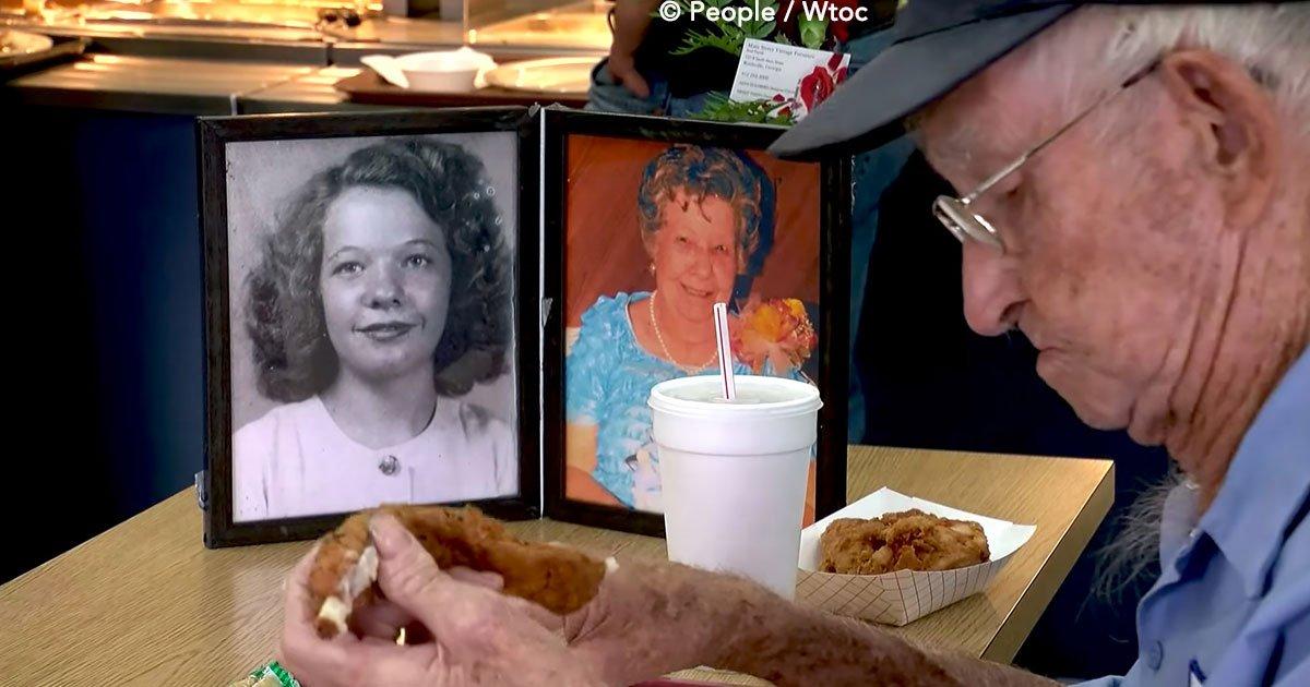 cover 10 - El hombre que almuerza contemplando la fotografía de su esposa fallecida, su amor ha conmovido a miles de personas