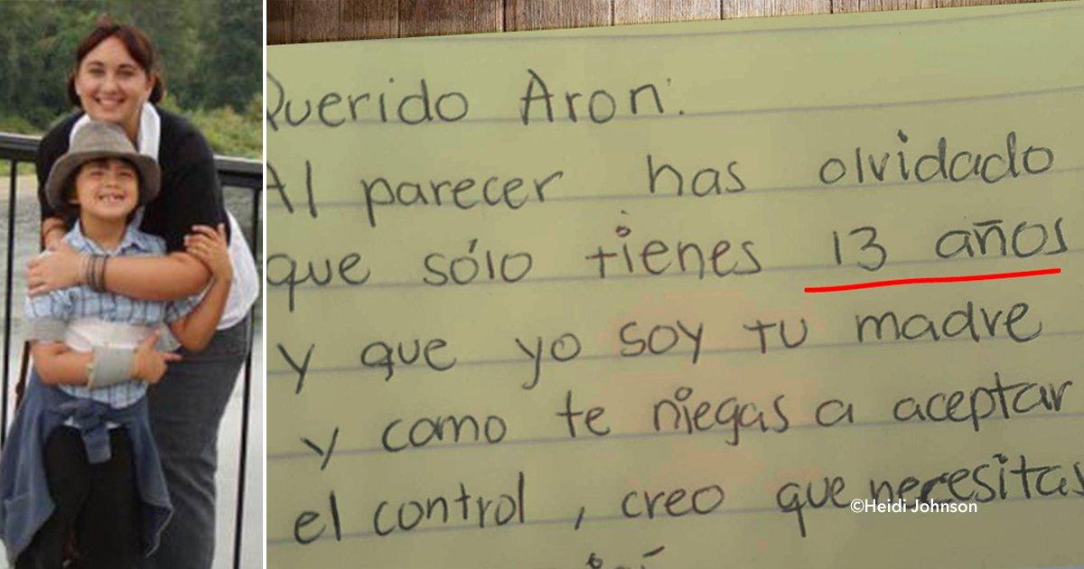 cover22carta.jpg?resize=300,169 - Su hijo de 13 años no paraba de desobedecerla, por lo tanto decidió escribirle una carta y ahora es furor en internet