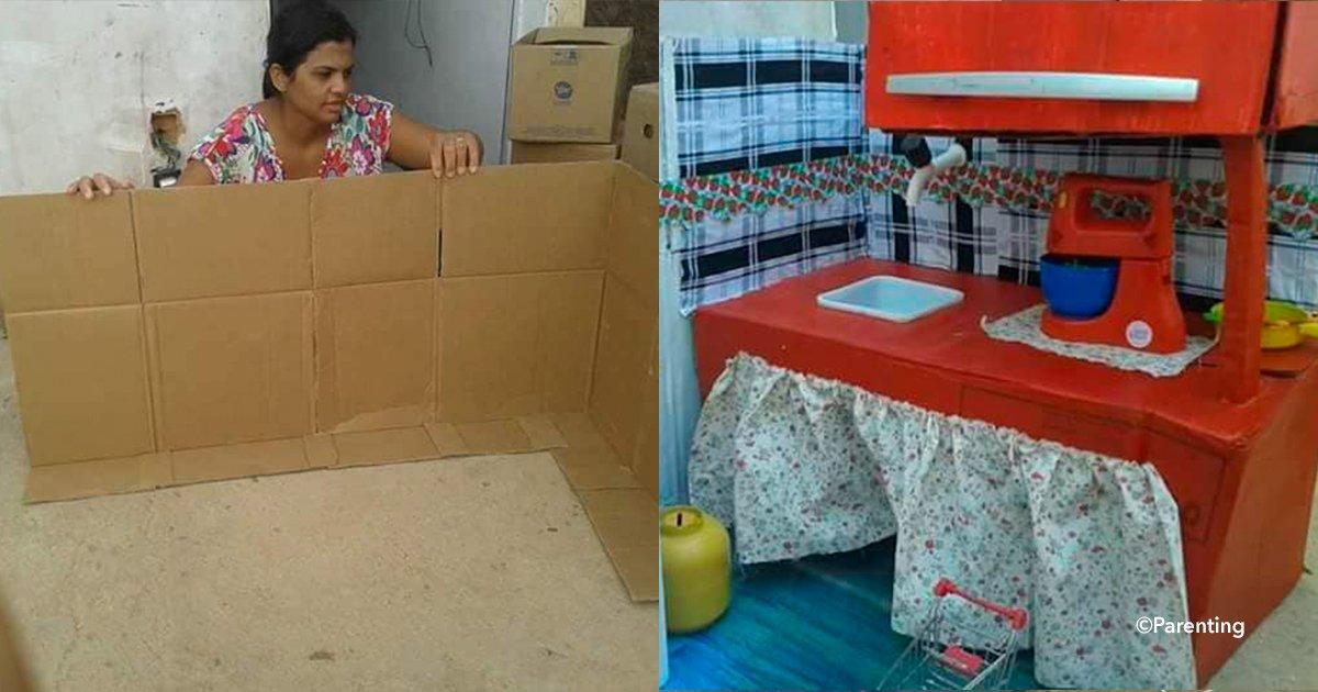 cover22casita 1 - Una madre no tenía recursos para comprarle una casa de muñecas a su hija pero su creatividad cumplió su sueño