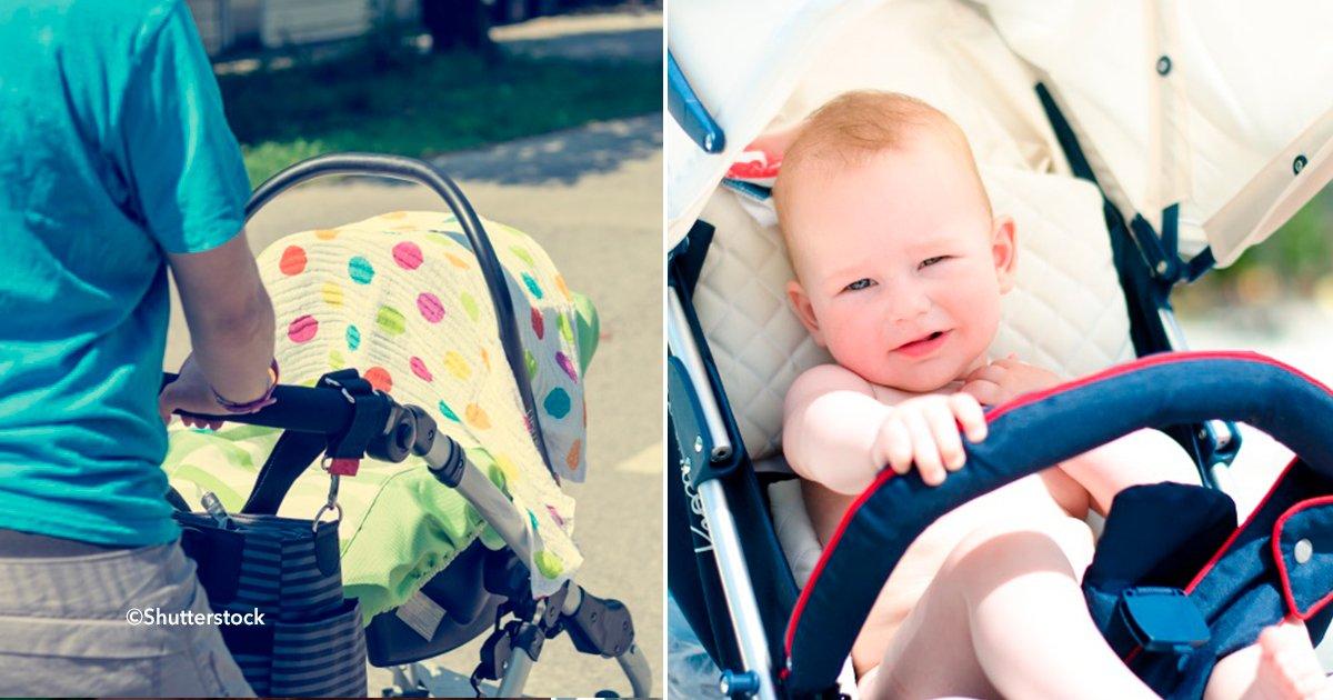"""cover22coche - Los bebés pueden sufrir serios daños al ser """"protegidos""""  por una cobija sobre sus carriolas"""
