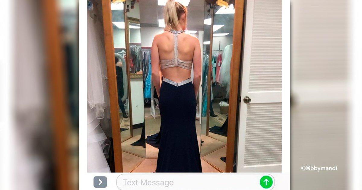 cover22fot 1.jpg?resize=412,232 - Ela experimentou um vestido e enviou a foto para a pessoa errada: a resposta da pessoa viralizou na Internet