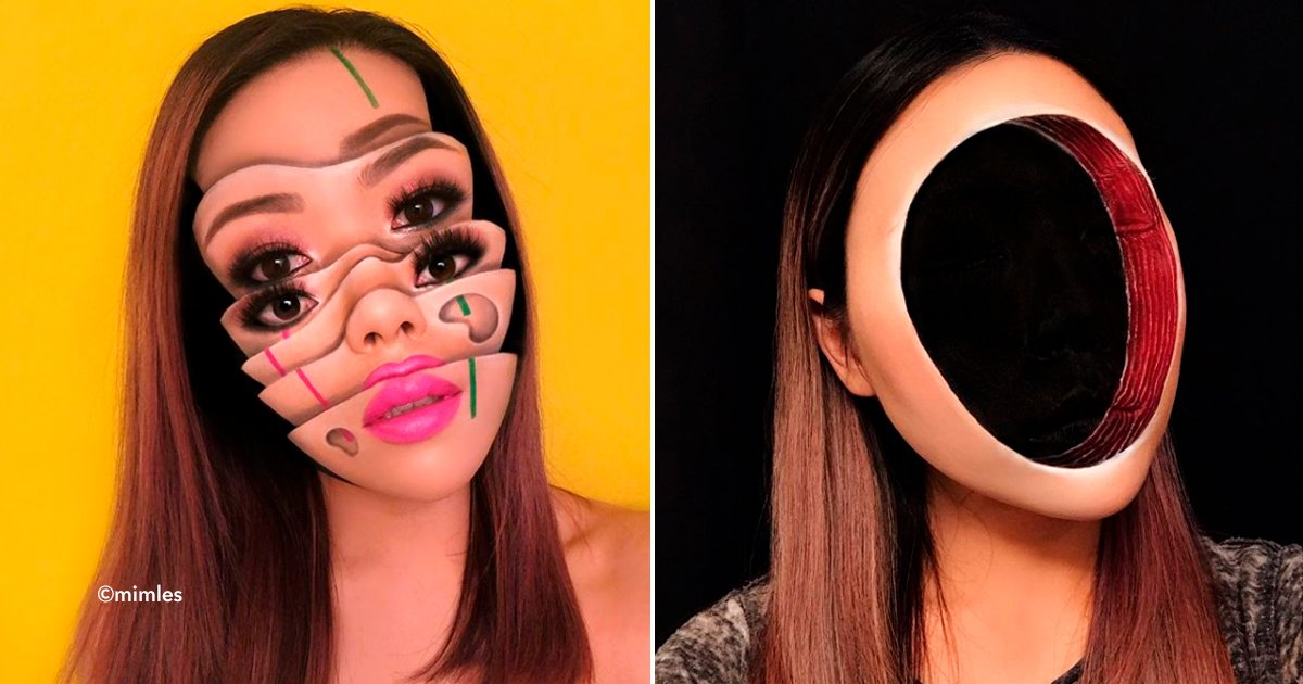 cover22maww - Conoce a Mimi Choi, una artista del maquillaje que logra crear ilusiones ópticas en su propia cara
