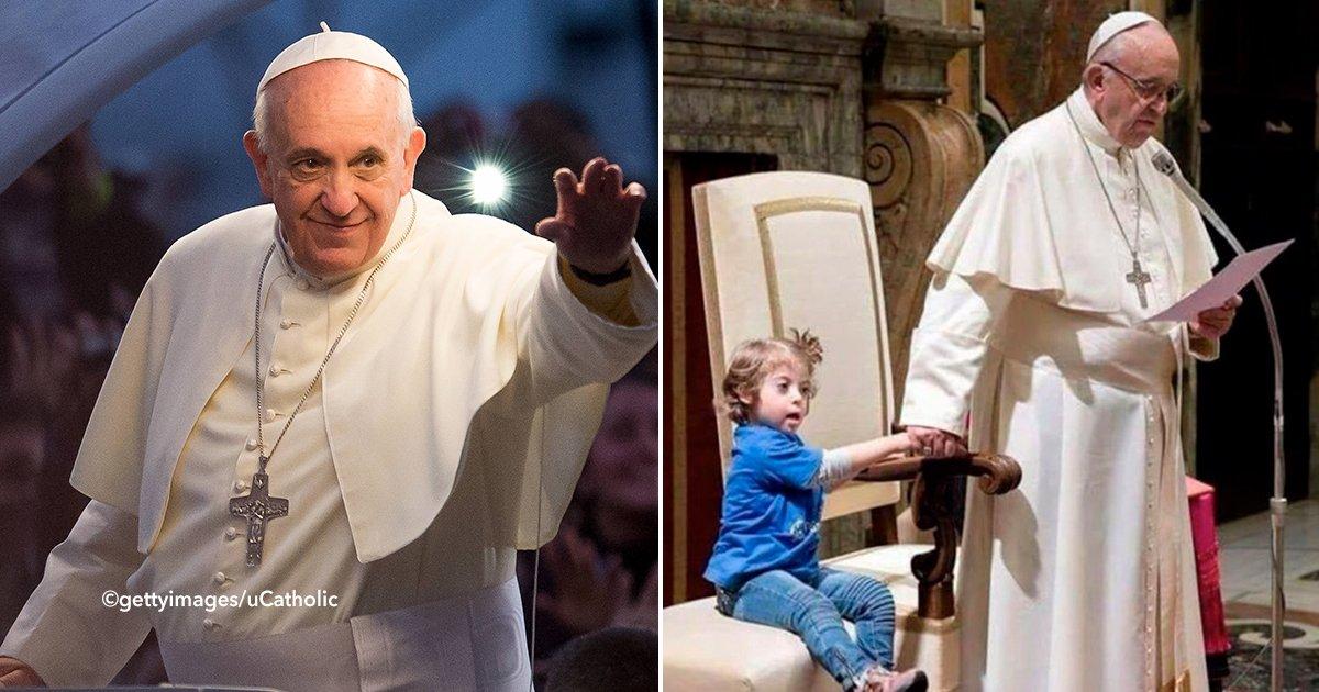 cover22pap.jpg?resize=648,365 - Conmovedor momento en que una niña con síndrome de Down se acercó al Papa