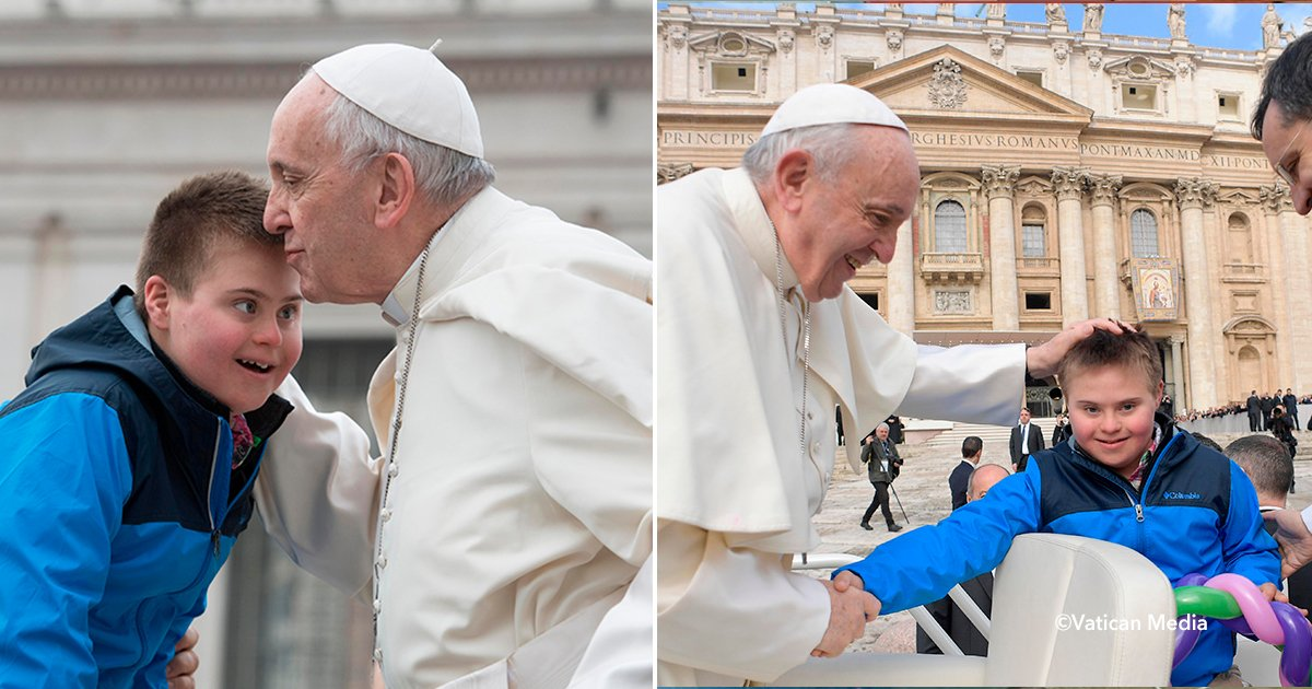 cover22papadown.jpg?resize=300,169 - Se salvó de un terrible cáncer después de luchar 3 años, fue cuando se cumplió su sueño de recibir un beso del Papa