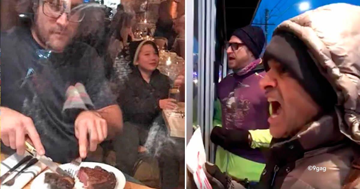 cover22vegan - Un chef se hartó de los manifestantes veganos y comió una pata de ciervo frente a ellos