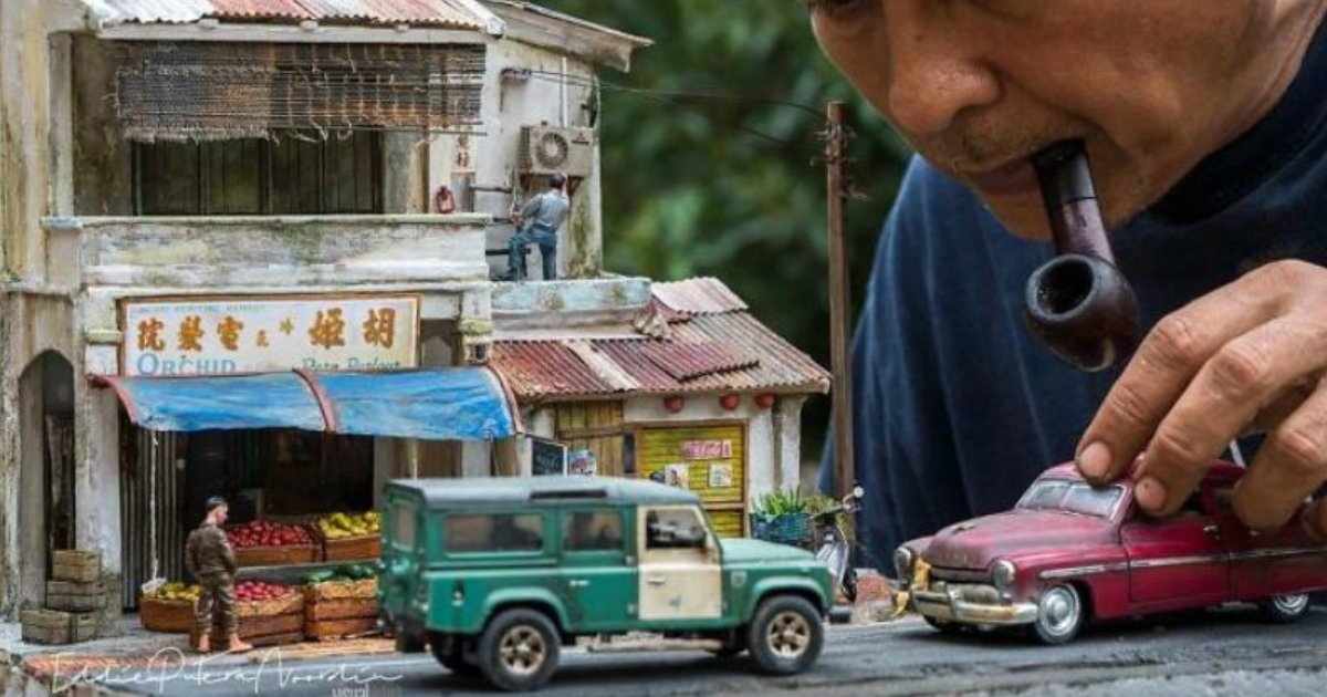 dioramas recreation.jpg?resize=300,169 - Everyone Has Their Own Childhood Memories? This Man's Memory Amazes People With His Realistic Dioramas