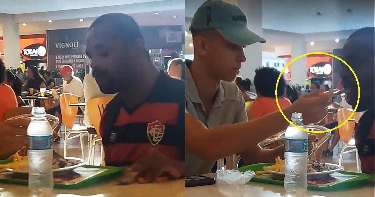 disabled - This Food Court Worker Helps Feed Disabled Man Is The Most Beautiful Thing You Will See Today
