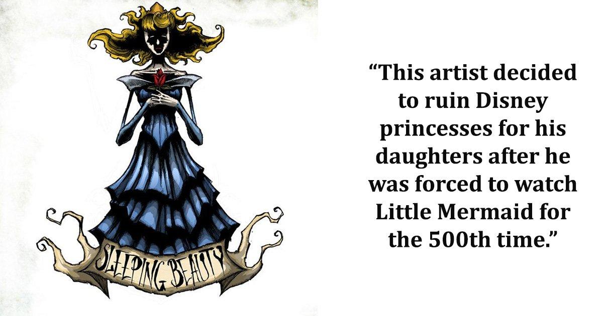 disney 1.jpg?resize=412,232 - Un père décide de ruiner les princesses Disney préférées de ses filles après avoir visionné leur film Disney préféré pour la 500ème fois