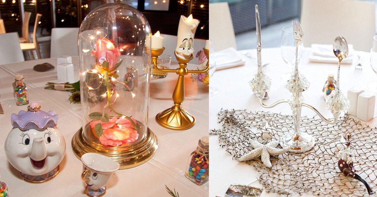 disney.jpg?resize=412,232 - Les tables de réception, inspirées de Disney, au mariage de ce couple font le buzz sur Internet