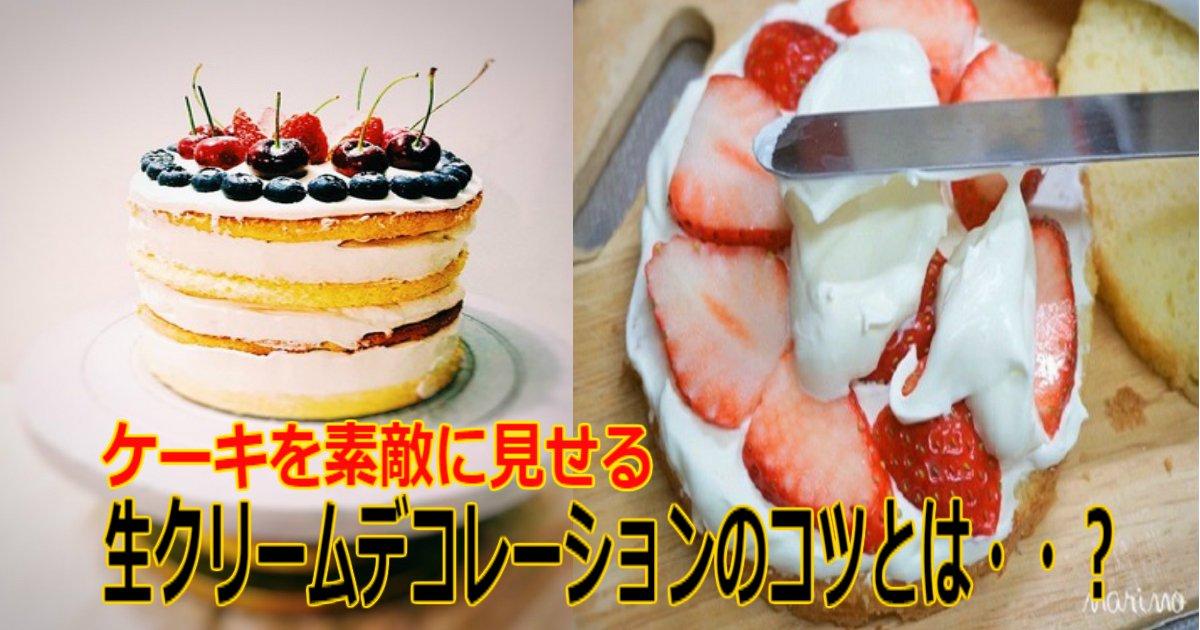 f 4.jpg?resize=1200,630 - 【市販のスポンジも可】ケーキを素敵に見せる「生クリームデコレーション」のコツとは・・?