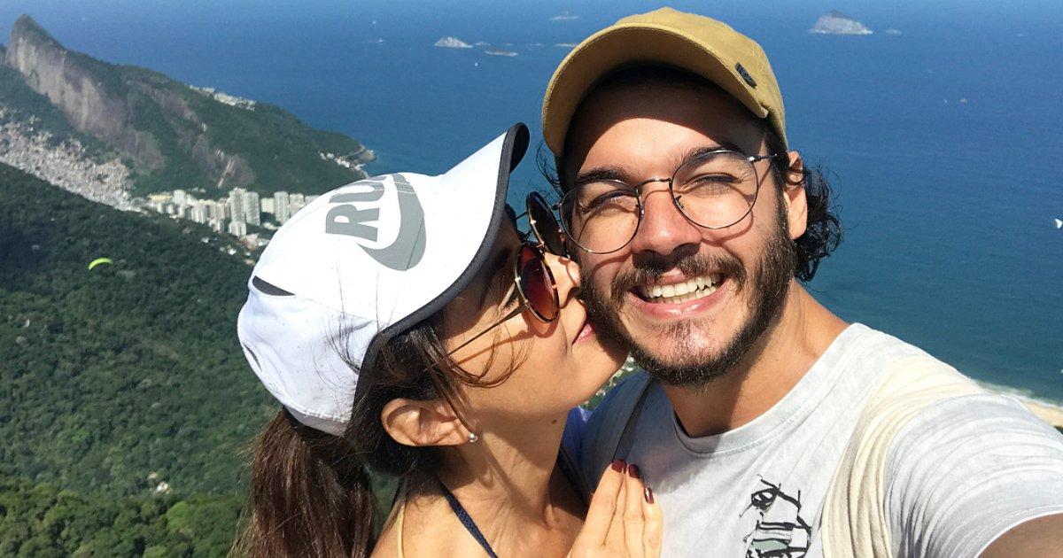 fatimaetulio.png?resize=1200,630 - Túlio posta foto com Fátima Bernardes no feriado e se declara