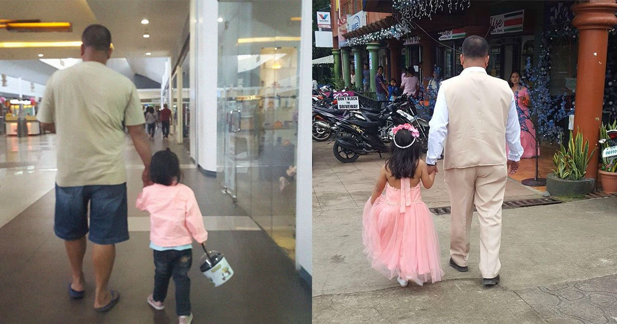 featured 1.jpg?resize=1200,630 - Mãe fotografa pai e filha de mãos dadas desde 2014 e o resultado é incrível