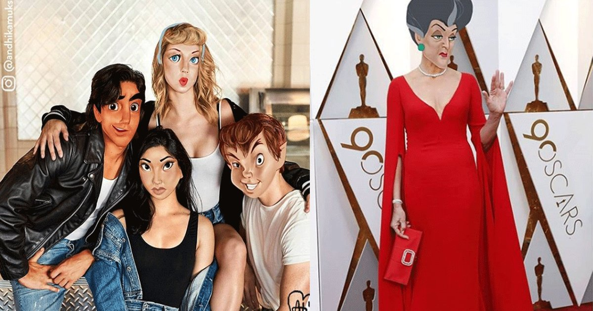 featured.png?resize=412,232 - L'artiste Andhika Muksin photoshope des personnages de Disney sur des photos prises par des célébrités et des paparazzi. Le résultat est incroyable