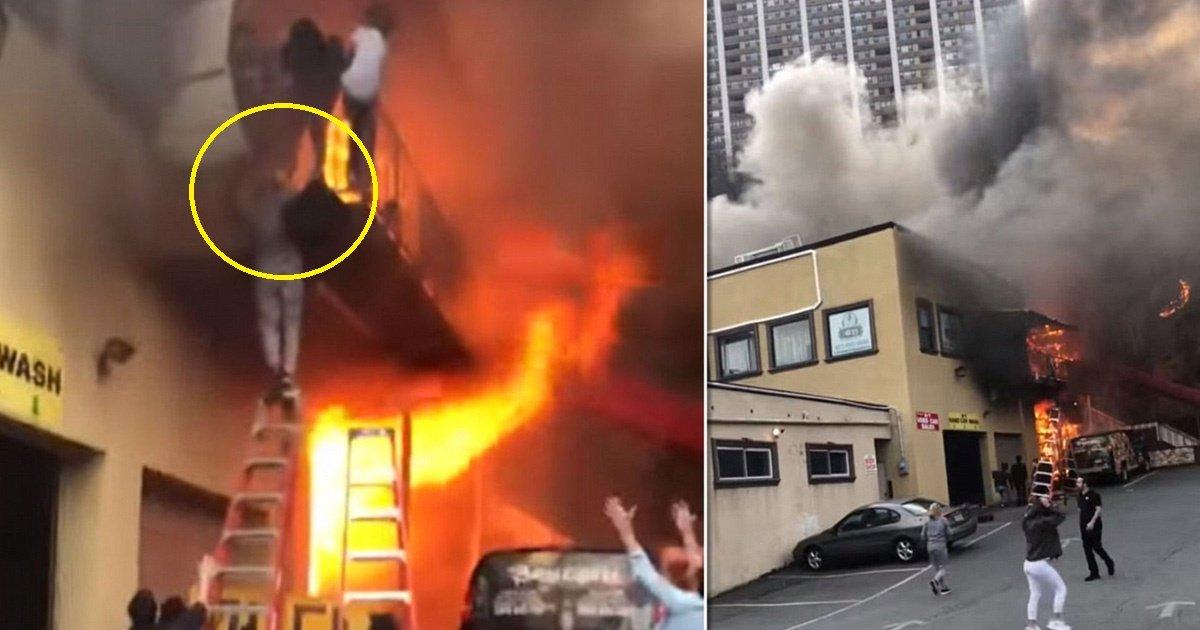 fire.jpg?resize=412,232 - Une caméra montre un groupe de filles fuyant par le balcon suite à un incendie dans un studio de danse