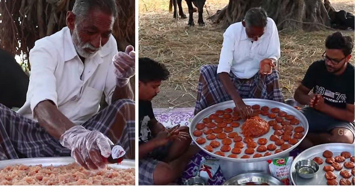 grandpa kitchen nuggets featured - Idoso cozinha porções gigantes de comida para órfãos na Índia