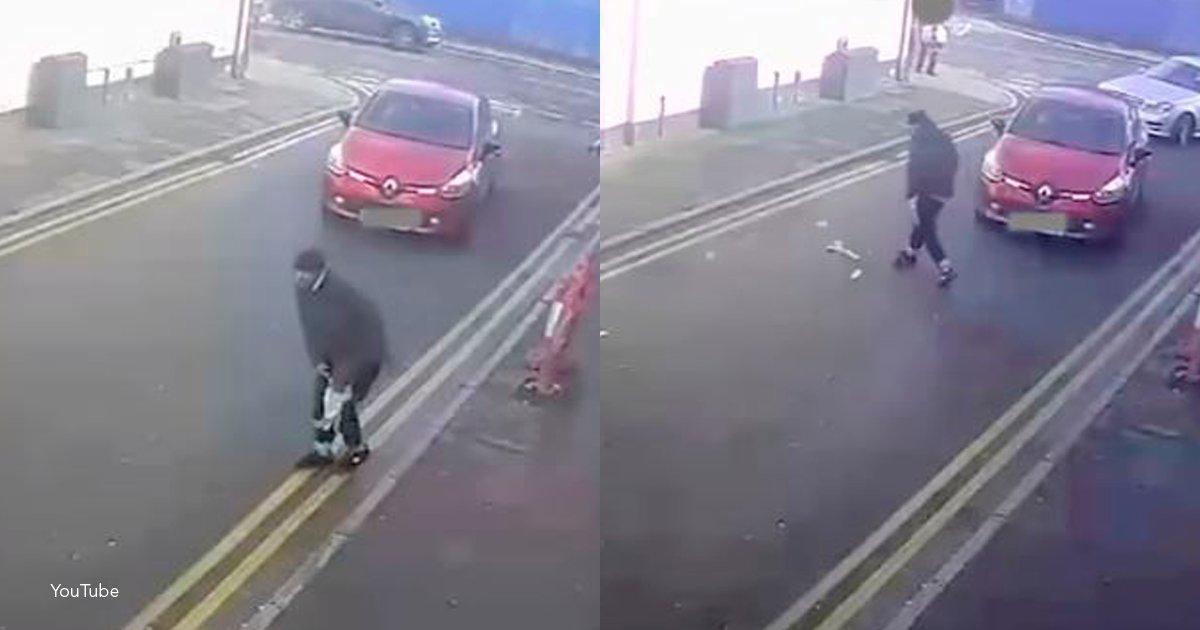 ladron - Este ladrón salió a la calle y se le voló todo el dinero por un fuerte viento